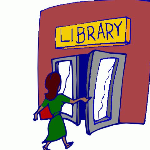 library walking in
